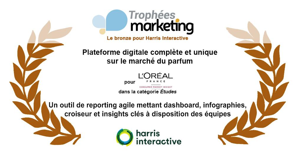 Trophées Marketing Magazine 2019 : le Bronze pour Harris Interactive et son client L'Oréal DPGP France image