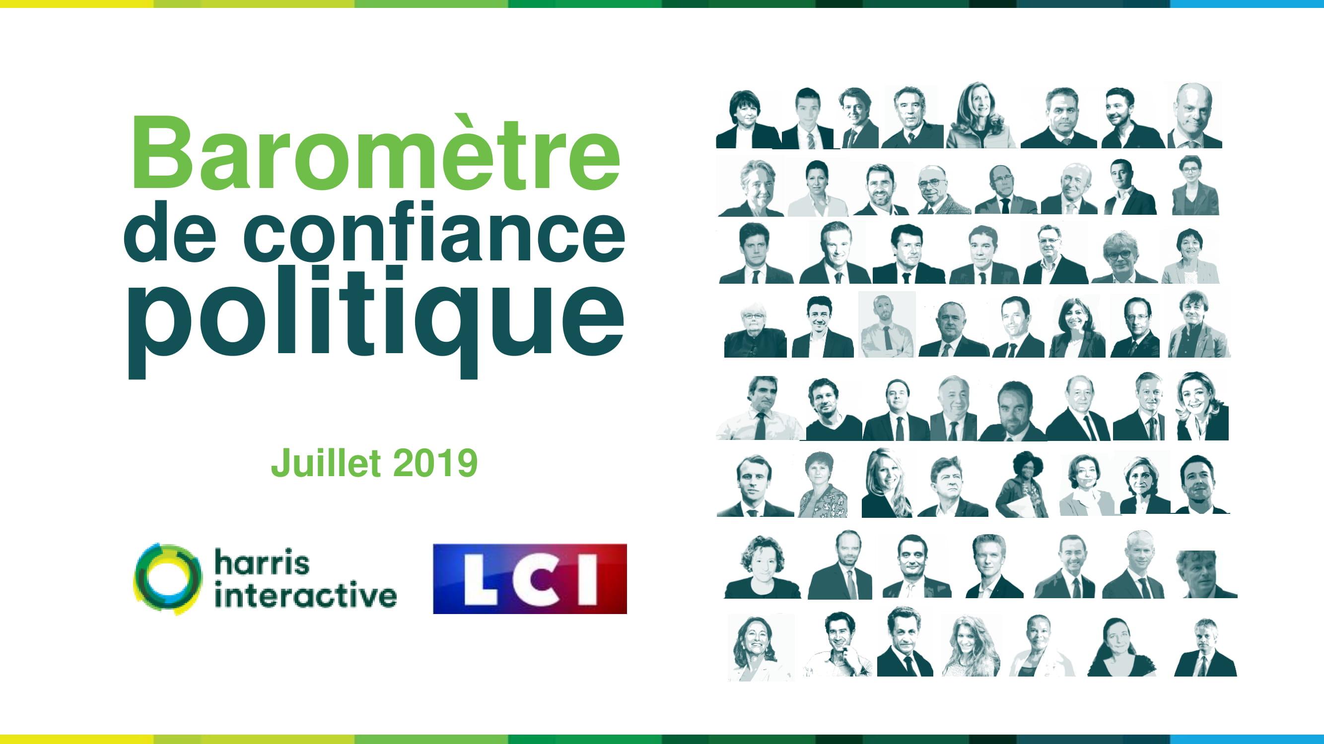 Baromètre de confiance politique – Juillet 2019 image