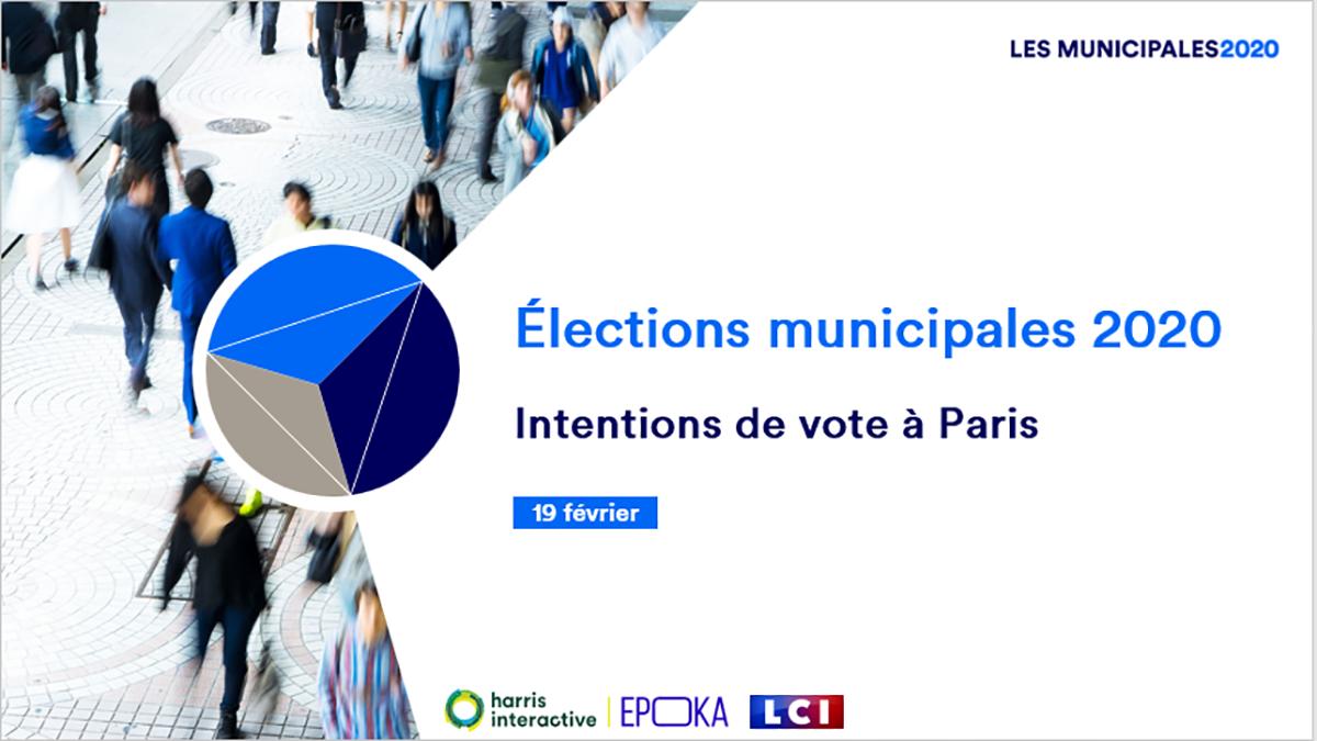 Elections Municipales : intentions de vote à Paris image