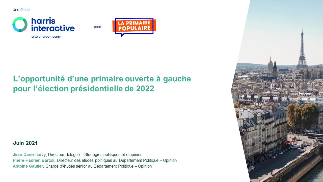 L'opportunité d'une primaire ouverte à gauche pour l'élection présidentielle de 2022 image