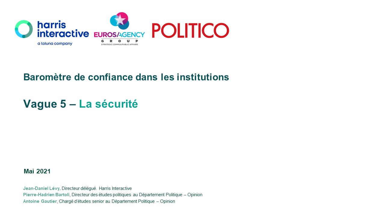 Baromètre de confiance dans les institutions – MAI 2021 image